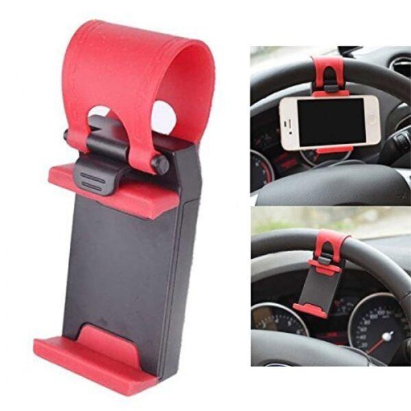 Стойка за кола за закрепване на телефон към волан на кола