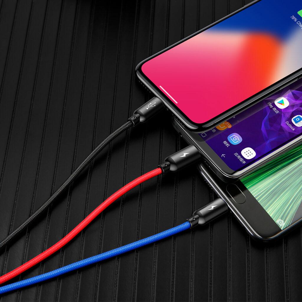 SmartZone.bg Зарядно устройство с дисплей + кабел Baseus 24W 2 x USB 4.8A