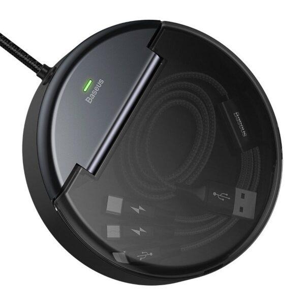 SmartZone.bg Станция за зареждане 3 в 1 BASEUS (черно)
