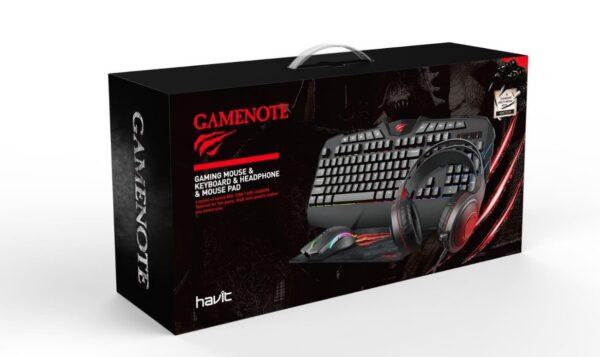 SmartZone.bg Геймърски слушалки + клавиатура + мишка + подложка Havit KB675CM