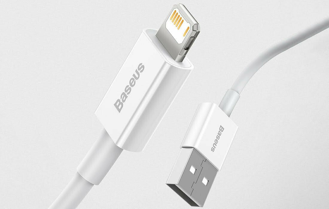 SmartZone.bg USB кабел Superior Series, Baseus USB към Lightning, 2.4A, 25см