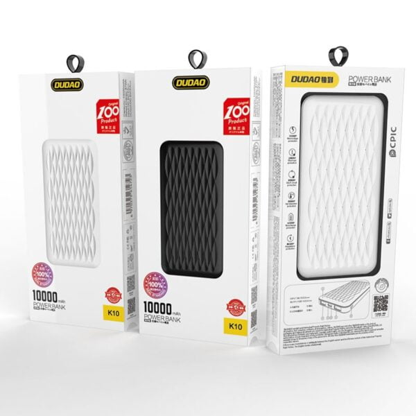 SmartZone.bg Преносима батерия Dudao K10 10000mAh 2x USB / USB-C / micro USB 2A
