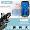 SmartZone.bg Автоматична стойка за телефон H8 с безжично зареждане